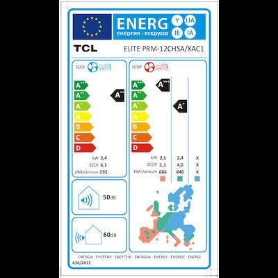 tcl elite prm 12000 btu energy label